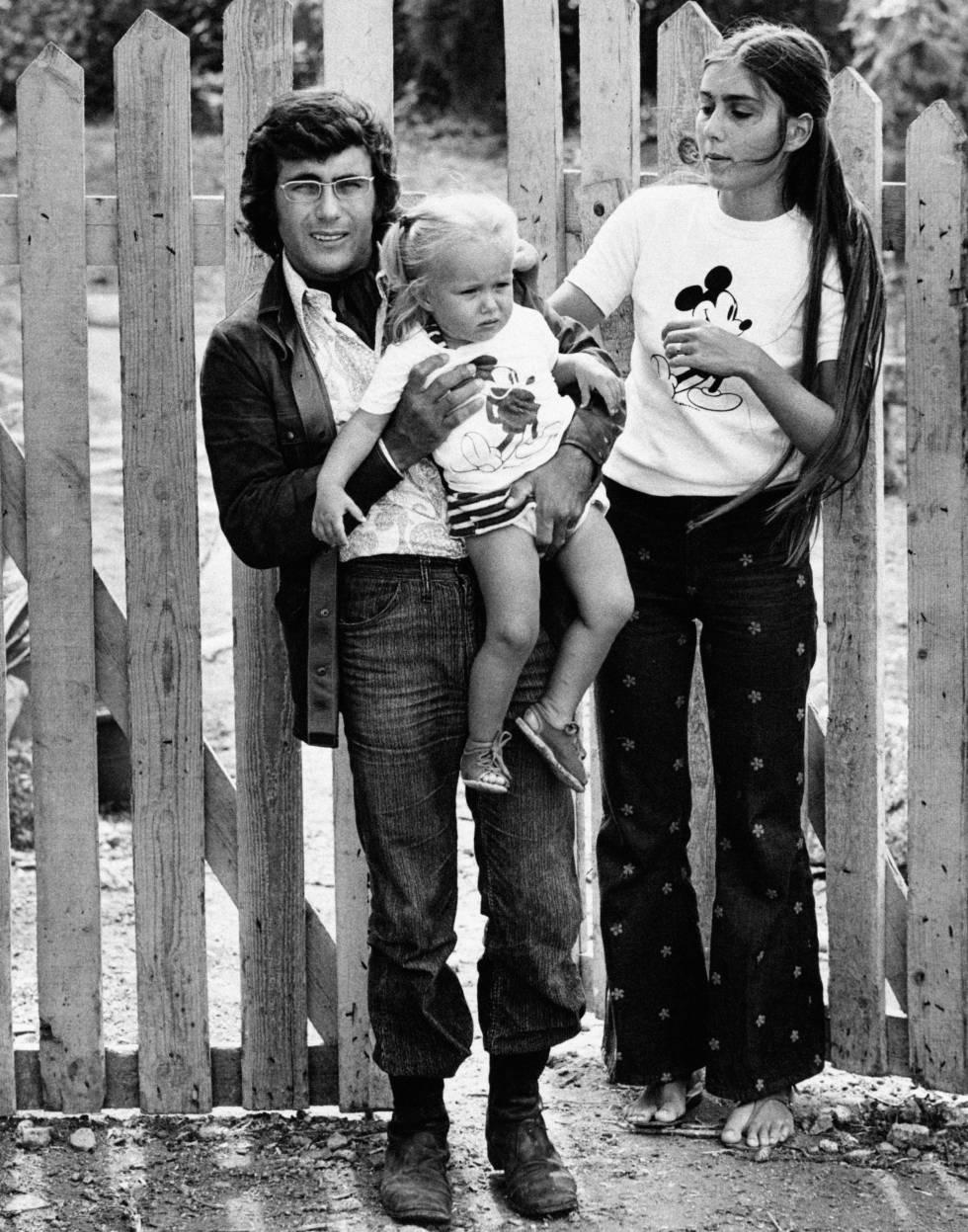 Al Bano, Romina Power e Ylenia a comienzos de los setenta.