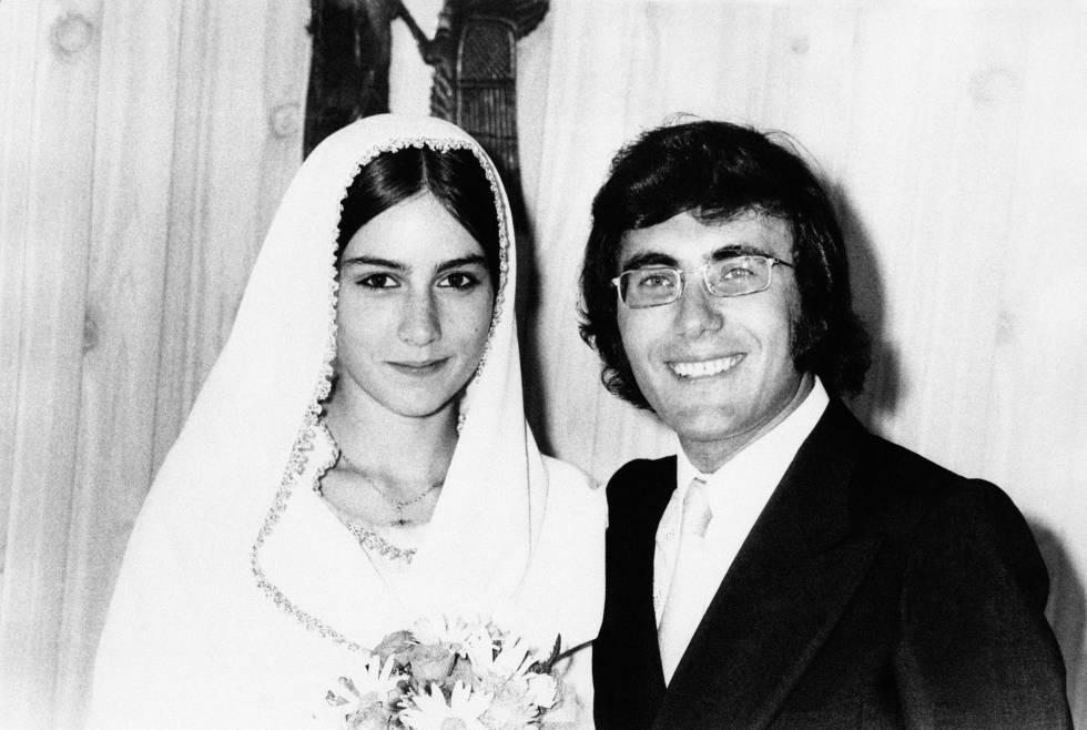 Romina Power y Albano Carrisi se conocieron en 1967 rodando una película para adolescentes. Tres años después se casaron en Roma. Esta imagen pertenece a la boda.