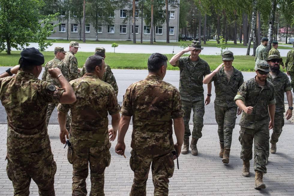 Tropas de la OTAN en el cuartel de Adazi (Letonia).